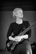 Alison Rayner on the Jazz Bass with the Deirdre Carthwright group at the Front Room Friday Tonic performance.