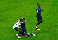 Blaise Matuidi and Corentin Tolisso (France) celebrate with Paul Pogba<br /> Saint Petersburg 10-07-2018 Football FIFA World Cup Russia  2018 Semifinal <br /> France - Belgium / Francia - Belgio <br /> Foto Matteo Ciambelli/Insidefoto