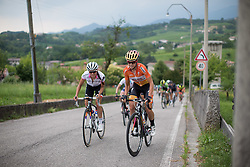Evelyn Stevens (USA) of Boels-Dolmans Cycling Team rides up on the day's main climb during the Giro Rosa 2016 - Stage 1. A 104 km road race from Gaiarine to San Fior, Italy on July 2nd 2016.