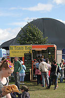 Food stall at music festival