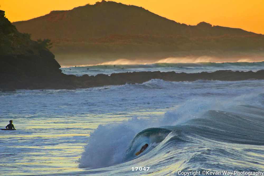sunset surfing in The Bays Coolum QLD