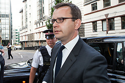 Image ©Licensed to i-Images Picture Agency. 04/07/2014. London, United Kingdom. Andy Coulson arrives for sentence. Former editor of the News of the World arrives today for sentencing in the phone hacking trial at Old Bailey. Picture by Daniel Leal-Olivas / i-Images