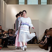 13.05.2016.           <br /> A model showcases designs by Hannah Keating titled 'Nevermind'  at the much anticipated Limerick School of Art & Design, LIT, (LSAD) Graduate Fashion Show on Thursday 12th May 2016. The show took place at the LSAD Gallery where 27 graduates from the largest fashion degree programme in Ireland showcased their creations. Ranked among the world's top 50 fashion colleges, Limerick School of Art and Design is continuing to mold future Irish designers.. Picture: Alan Place/Fusionshooters
