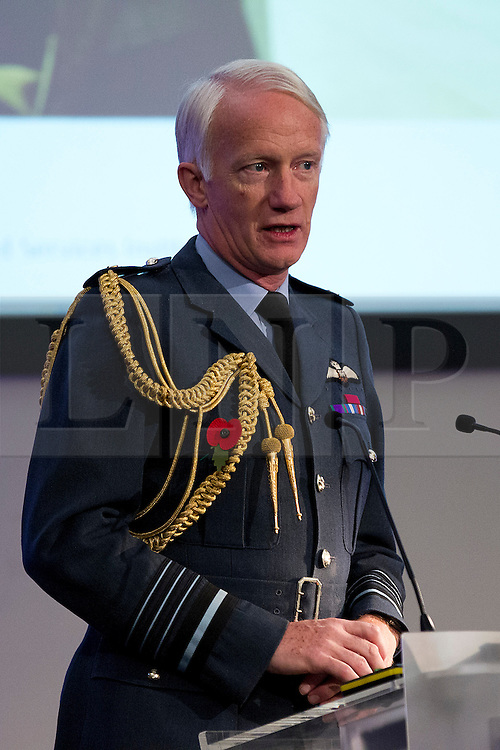 © Licensed to London News Pictures. 01/11/2012. London, UK. Air Chief Marshal Sir Stephen Dalton is seen talking at the Chief of the Air Staff's Air Power Conference 2012 held by the Royal United Services Institute (RUSI) in Westminster, London, today (01/11/12). Photo credit: Matt Cetti-Roberts/LNP