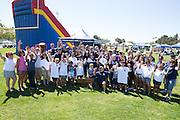The Milpitas Police Officers Association pose for a photo during Relay For Life at the Milpitas Sports Center in Milpitas, California, on June 22, 2013. (Stan Olszewski/SOSKIphoto)
