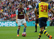Tom Cleverley of Aston Villa during the The FA Cup match between Arsenal and Aston Villa at Wembley Stadium, London, England on 30 May 2015. Photo by Phil Duncan.