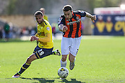 Luton Town's Stephen O'Donnell on the ball during the Sky Bet League 2 match between Oxford United and Luton Town at the Kassam Stadium, Oxford, England on 16 April 2016. Photo by Shane Healey.