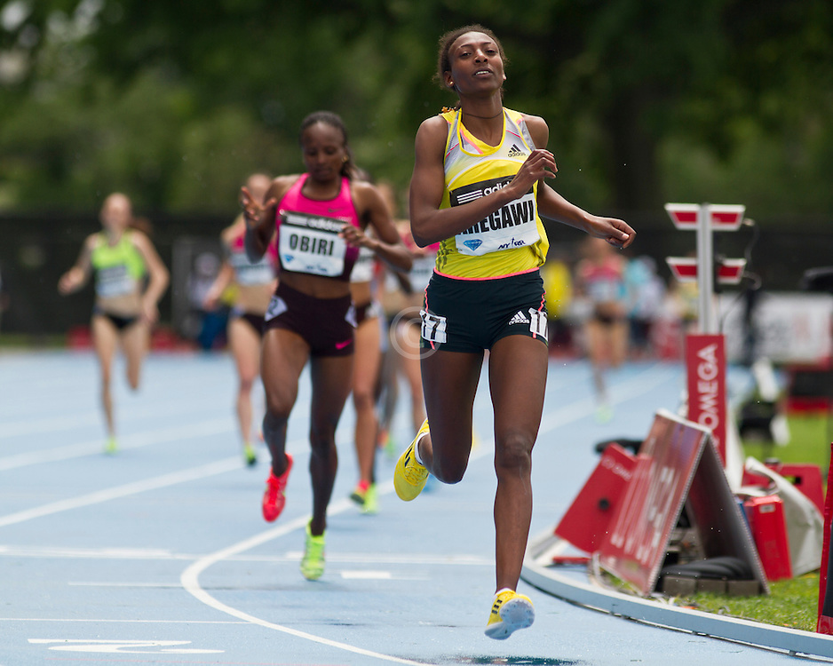 adidas Grand Prix Diamond League professional track & field meet: womens 1500 meters, Abeba AREGAWI, Sweden
