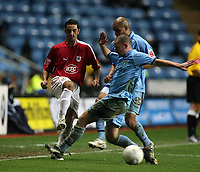 Photo: Rich Eaton.<br /> <br /> Coventry City v Bristol City. The FA Cup. 16/01/2007. Scott Murray of Bristol far left is tackled by Michael Doyle of Coventry