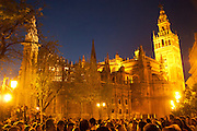 Seville Cathedral, destination for all processions, Seville, Spain