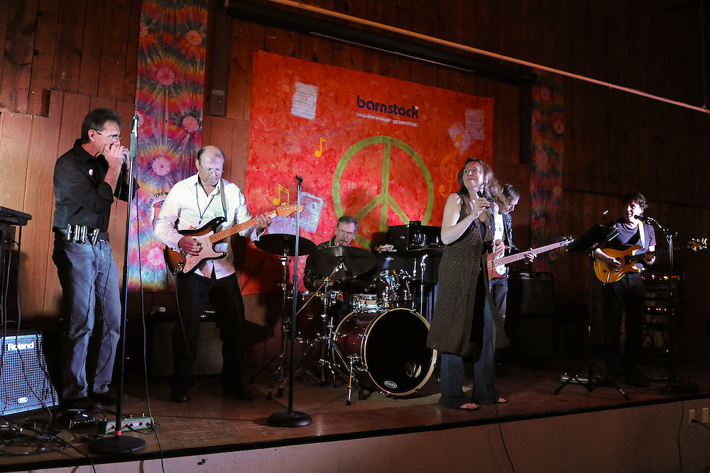 NAPERVILLE, IL- NOVEMBER 20:  Barnstock 2010 was held at The Barn, a famous youth recreation center located in Naperville, Illinois, to celebrate its 45th anniversary on November 20, 2010.  Invited musicians from the bands that played there from 1965-1973 rejoined for a night of music and memories. Pictured here is Winslow Savage. (Photo by Ron Vesely)