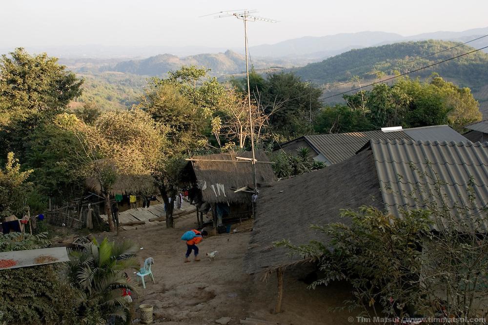 MAE SAI, THAILAND - Near the akha hill tribe village of Senjai, on 9 January, 2007, near Mae Sai, Thailand..