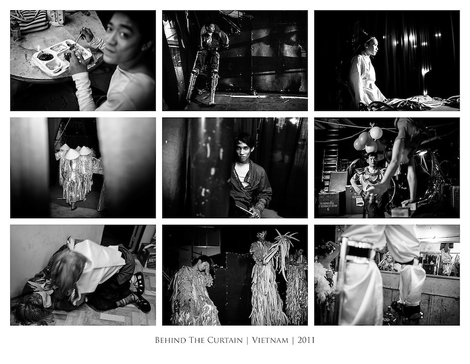 Images from Behind The scenes at the Saigon Xin Chao! Circus in Ho Chi Minh City, Vietnam. <br /> <br /> Short Edit: http://bit.ly/hNzWIZ <br /> Blogged: http://bit.ly/ig9UbP<br /> Full Gallery: http://quinnmattingly.photoshelter.com/gallery/Saigon-Circus-Behind-The-Curtain/G0000xW4BamQ.LFY/