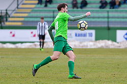 Matevz Fortin of ND Ilirija 1911 during football match between ND Mura and ND Ilirija 1911 in Round #18 of 2.SNL 2017/18 on March 11, 2018 in Mestni stadion Fazanerija , Murska Sobota , Slovenia. Photo by Mario Horvat / Sportida