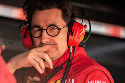 February 18, 2019 - Montmelo, BARCELONA, Spain - Circuit de Barcelona Catalunya, BARCELONA, 18 of february 2019. Mattia Binoto team principal of Ferrari at the pit lane during the first day of Test at Circuit de Barcelona Catalunya (Credit Image: © AFP7 via ZUMA Wire)
