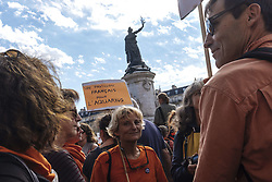 October 6, 2018 - Paris, Ile-de-France (region, France - Solidarity rally organized at the call of SOS Mediterranee in Paris to protest against the attack on SOS Mediterranee's premises in Marseille by members of an extreme right-wing group, Generation Identitaire. (Credit Image: © Jan Schmidt-Whitley/Le Pictorium Agency via ZUMA Press)