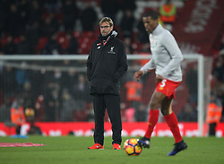 Liverpool manager Jurgen Klopp before the match - Mandatory by-line: Jack Phillips/JMP - 11/02/2017 - FOOTBALL - Anfield - Liverpool, England - Liverpool v Tottenham Hotspur - Premier League