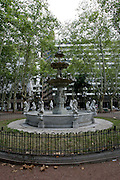 Montevideo, Uruguay - A fountain in a public park in Downtown Montevideo