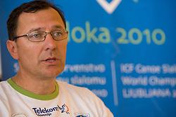 Andrej Jelenc at press conference of Kayak and Canoe Federation of Slovenia, on April 7, 2010, in Avtotehna VIS, Ljubljana, Slovenia.  (Photo by Vid Ponikvar / Sportida)