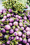 Small purple eggplant at the municipal market, Nakhon Si Thammarat