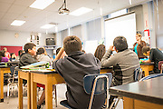 Classroom of Kimberley Tijerino at Parrish Middle School in Salem Oregon.