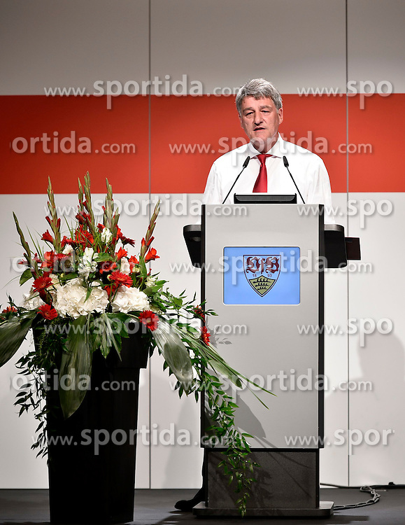 28.07.2014, Stuttgart, GER, 1. FBL, VfB Stuttgart Mitgliederversammlung, im Bild Praesident Bernd Wahler VfB Stuttgart haelt Rede // during a members assembly of the german Bundesliga Club VfB Stuttgart at the Stuttgart, Germany on 2014/07/28. EXPA Pictures &copy; 2014, PhotoCredit: EXPA/ Eibner-Pressefoto/ Weber<br /> <br /> *****ATTENTION - OUT of GER*****