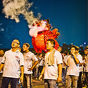 Burning of Great Wannian Fire Lion ????? at Wannian Folklore Festival, Zuoying, Lotus Lake, Kaohsiung City, Taiwan