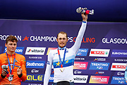 Podium Men Road Race 230,4 km, Matteo Trentin (Italy ITA), during the Cycling European Championships Glasgow 2018, in Glasgow City Centre and metropolitan areas, Great Britain, Day 11, on August 12, 2018 - Photo Luca Bettini / BettiniPhoto / ProSportsImages / DPPI - Belgium out, Spain out, Italy out, Netherlands out -