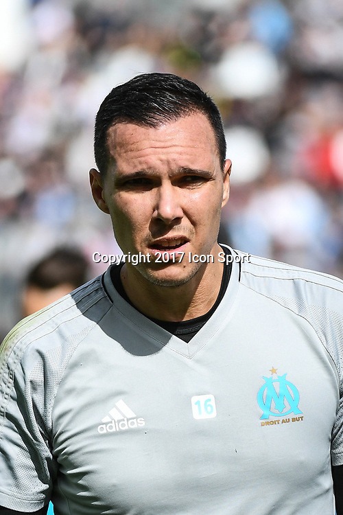 Yohann Pele of Marseille during the Ligue 1 match between Amiens SC and Olympique Marseille at Stade de la Licorne on September 17, 2017 in Amiens, . (Photo by Anthony Dibon/Icon Sport)