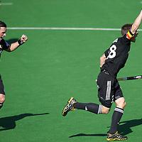 MELBOURNE - Champions Trophy men 2012<br /> Belgium v England<br /> foto: Jerome Truyens scores 1-0<br /> FFU PRESS AGENCY COPYRIGHT FRANK UIJLENBROEK