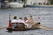 Henley, GREAT BRITAIN, GV pleasure boat, Skiff on the course at  2008 Henley Royal Regatta  on Saturday, 05/07/2008,  Henley on Thames. ENGLAND. [Mandatory Credit:  Peter SPURRIER / Intersport Images] Rowing Courses, Henley Reach, Henley, ENGLAND . HRR
