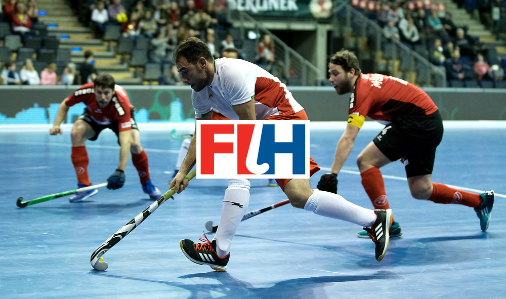 BERLIN - Indoor Hockey World Cup<br /> Men: Iran - Switzerland<br /> foto: NOROUZZADEH Reza.<br /> COPYRIGHT WILLEM VERNES
