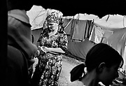 Chechnian refugees in the border region between Checnya and Ingusetia.