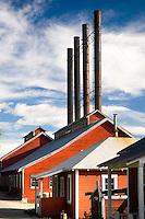 Historic buildings of the Kennecott Copper Mine townsite. Wrangell-St. Elias National Park Alaska