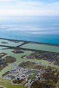 Nederland, Zeeland, Gemeente Schouwen-Duiveland, 01-04-2016; Prunjepolder, inlagen en Oosterschelde. Plan Tureluur, het uitgestrekte zout/brakke kleimoeras in de polder is hersteld en 'teruggegeven aan de natuur'. Deze natuurcompensatie is aangelegd omdat er door de Deltawerken veel buitendijks getijgebied verloren was gegaan.<br /> The expansive salt / brackish marsh clay in the polder has been restored and given back to nature. This 'environmental compensation' must compensate for tidal area that were lost due to the Delta Works.<br /> <br /> luchtfoto (toeslag op standard tarieven);<br /> aerial photo (additional fee required);<br /> copyright foto/photo Siebe Swart