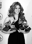 Grammy winner Shakira poses in the press room at the 7th Annual Latin Grammy Awards at Madison Square Garden  on Thursday, November 2, 2006 in New York.