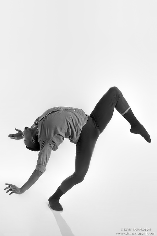 Black and white dance photography- Step- featuring Dance As Art dancer Jarrett Rashad