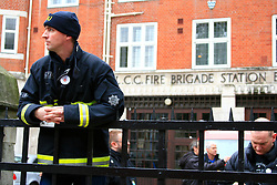 © under license to London News Pictures. 01/11/2010. Fire Brigade Union hold second day of strike action at Euston Fire Station, over new working contracts.
