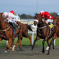 Summer Glow and John Fahy winning the 5.35 race
