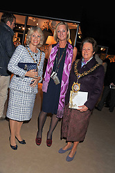 Left to right, The Lord Mayor of Westminster – COUNCILLOR SUSIE BURBRIDGE, SARAH PERCY-DAVIS Chief Executive of LAPADA and the Lord Mayor of Hammersmith & Fulham COUNCILLOR FRANCES STAINTON at a preview evening of the annual London LAPADA (The Association of Art & Antiques Dealers) antiques Fair held in Berkeley Square, London on 20th September 2011.