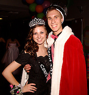 Seniors prom queen Morgan Terrill and king Nick Umbdenstock during the Fairborn High School prom at Wright State University's Student Union in Fairborn, Saturday, May 7, 2011.