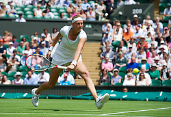 26.06.2012, Wimbledon, London, GBR, WTA, The Championships Wimbledon, im Bild Petra Kvitova (CZE) during day two of the WTA Tour Wimbledon Lawn Tennis Championships at the All England Lawn Tennis and Croquet Club, London, Great Britain on 2012/06/26. EXPA Pictures © 2012, PhotoCredit: EXPA/ Propagandaphoto/ David Rawcliff..***** ATTENTION - OUT OF ENG, GBR, UK *****