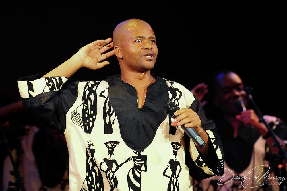 Ladysmith Black Mambazo member Sibongiseni Shabalala performing at The Music Hall, Portsmouth, NH