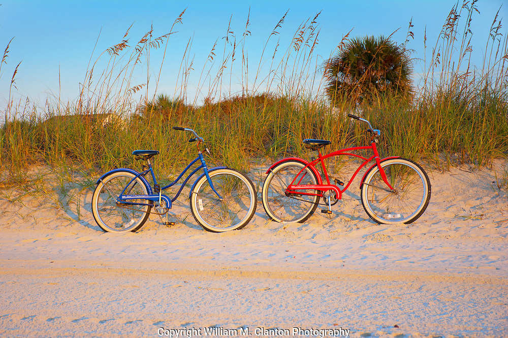 "My girlfriend and I took a bike ride to the beach to try and catch the sunrise, after setting up our gear and shooting for several minutes we turned around and noticed our bikes ""Resting"" in the early morning sun. Some times the best shots might not be the most obvious shot or even the shot you came for."