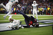 Houston Texans wide receiver DeAndre Hopkins (10) in action during the NFL week 8 regular season football game against the Miami Dolphins on Thursday, Oct. 25, 2018 in Houston. The Texans won the game 42-23. (©Paul Anthony Spinelli)