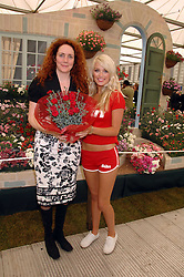 REBEKAH WADE and Sun model at the 2008 Chelsea Flower Show 19th May 2008.<br /><br />NON EXCLUSIVE - WORLD RIGHTS