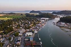 United States, Washington, La Conner (aerial view)