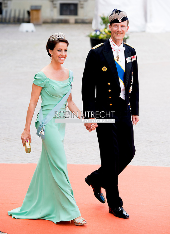 13-6-2015 STOCKHOLM  Prince Joachim of Denmark and Princess Marie  of Denmark  arrival of  for  .The wedding of Prince Carl Philip and Sofia Hellqvist  at the  Royal palace in Stockholm .COPYRIGHT ROBIN UTRECHT