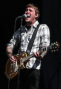 Brian Fallon of The Gaslight Anthem performs live on the Main stage during day Two of Reading Festival on August 28, 2010 in Reading, England.  (Photo by Simone Joyner)
