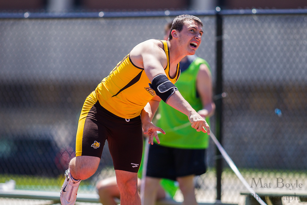 Rowan University junior Steven Lafrate competes in men's javelin at the NJAC Track and Field Championships at Richard Wacker Stadium on the campus of  Rowan University  in Glassboro, NJ on Saturday May 4, 2013. (photo / Mat Boyle)